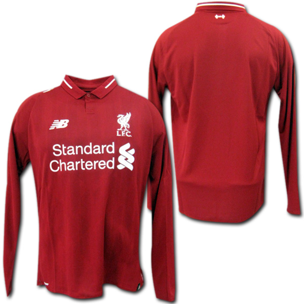 a827317e7 Product made by 18/19 Liverpool home (red) long sleeves New Balance ...