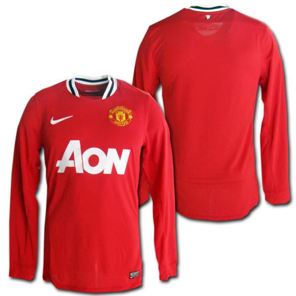 b538706b5 O.K.A.Football  Manchester United Home 11 12 red long sleeve Nike ...