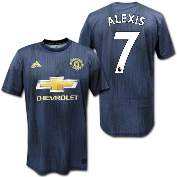 マンチェスターユナイテッド 18/19 サード(ネイビー) #7 ALEXIS アレクシス・サンチェス adidas【メール便送料無料】