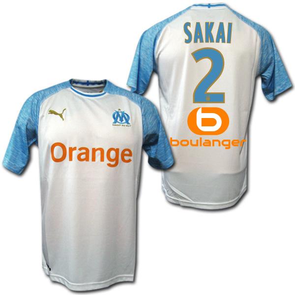 841d0d6c989 O.K.A.Football  PUMA working under Olympique de Marseille 18 19 home (white    light blue)   2 SAKAI Sakai sponsor