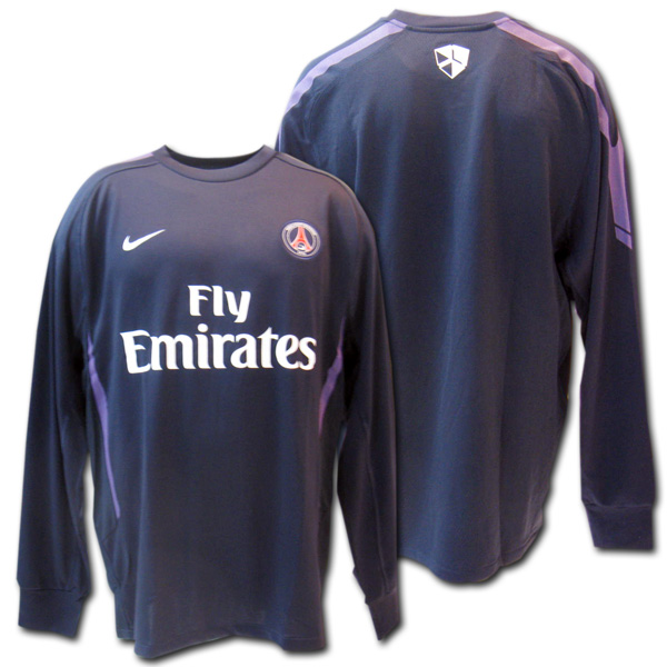 new products 87c85 f3b67   Paris Saint-Germain 2011 training sweat shirt (dark blue) + sponsor back  raising type NIKE
