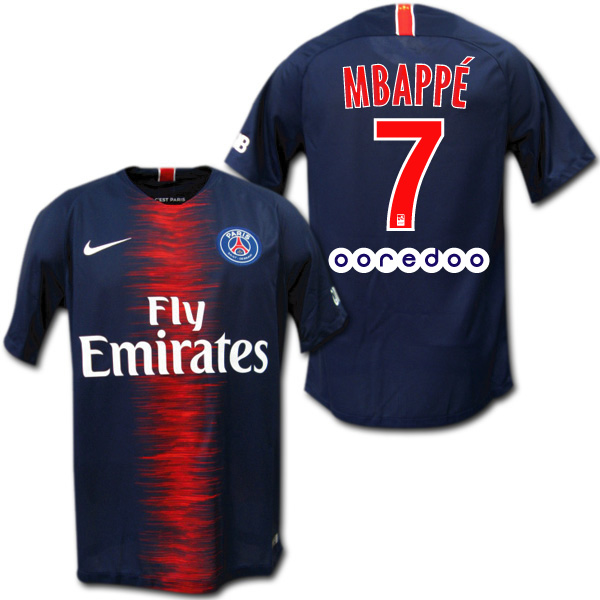 Product made in 18 19 PSG Paris Saint-Germain home (dark blue)   7 MBAPPE  エムバペナイキ e002edc62