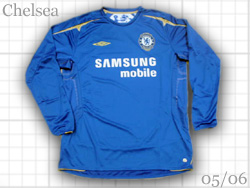 Chelsea home, 100th anniversary long sleeve shirt made by Umbro