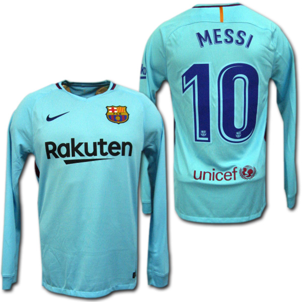 timeless design 6ce18 661d8 Product made in FC Barcelona 17/18 away (light blue) long sleeves # 10  MESSI Messina stetting