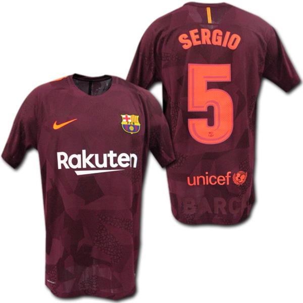 【オーセンティック・AEROSWIFT】 17/18 FCバルセロナ #5 SERGIO ブスケッツ 3rd (ワイン) NIKE