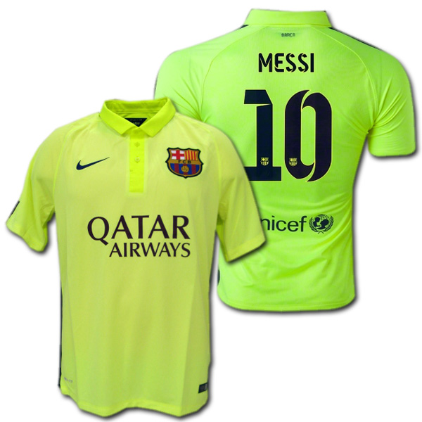 huge discount 57745 85834 FC Barcelona 14/15 3rd (yellow) # 10 MESSI Lionel, Messi made by Nike