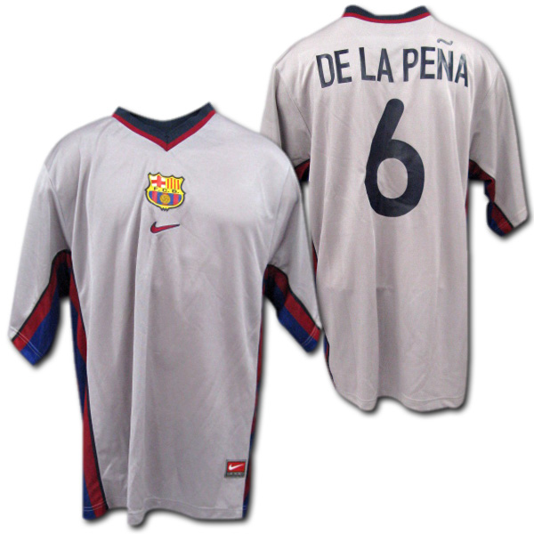 huge discount 37578 8143e Product made in FC Barcelona 2000/2001 away (gray) # 6 DE LAPENA デ ラペーニャナイキ