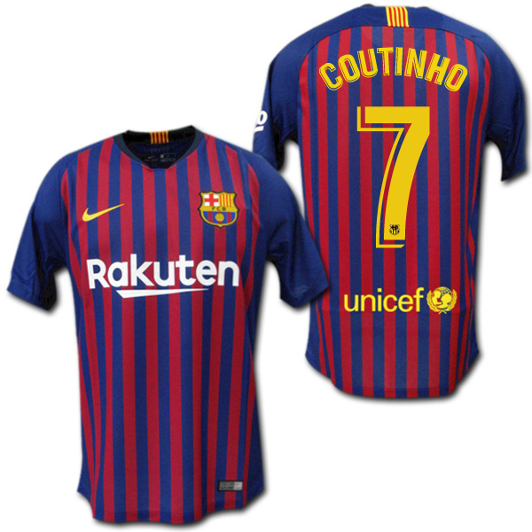 hot sale online a4d6f dd534 Product made in FC Barcelona 18/19 home (blue red) # 7 COUTINHO コウチーニョナイキ