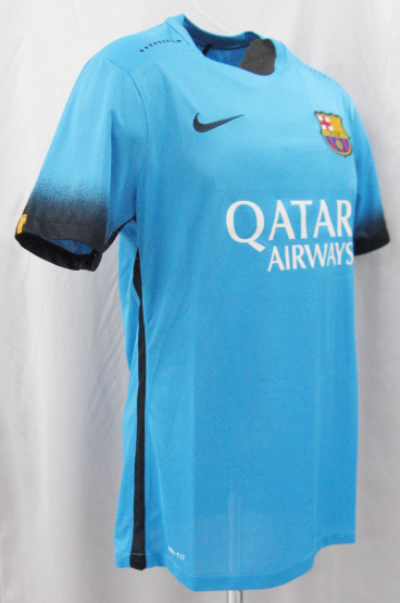 3c64f66f687 ... 15/16 FC Barcelona third (light blue) authentic # 10 MESSI Messi NIKE  ...