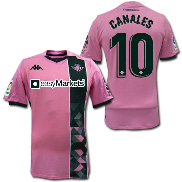 19/20 レアル・ベティス 3rd(ピンク) オーセンティック #10 CANALES カナレス Kappa【メール便送料無料】