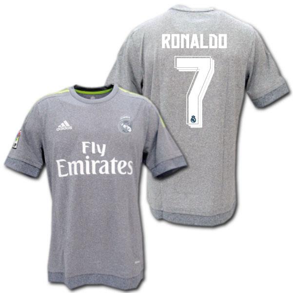 detailed look e7a2c 383ff Real Madrid away 15/16 (grey) # 7 RONALDO Cristiano Ronaldo made in adidas