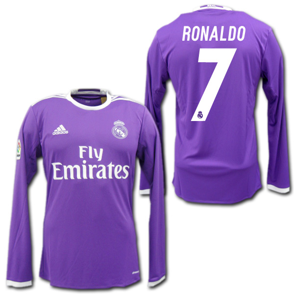 finest selection 4d24a 421b4  Real Madrid away 16 / 17 (purple) # 7 RONALDO Cristiano-Ronaldo-length  sleeve manufactured by adidas