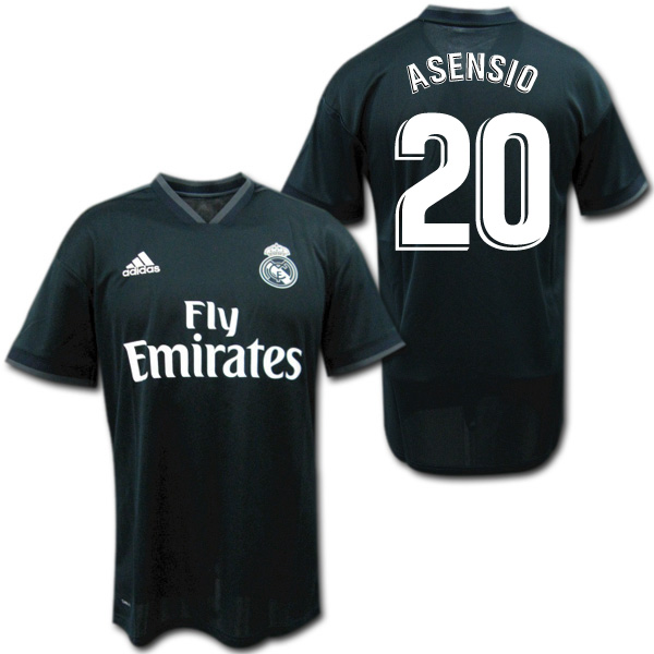 レアルマドリード 18/19 アウェイ(黒) #20 ASENSIO アセンシオ adidas【メール便送料無料】