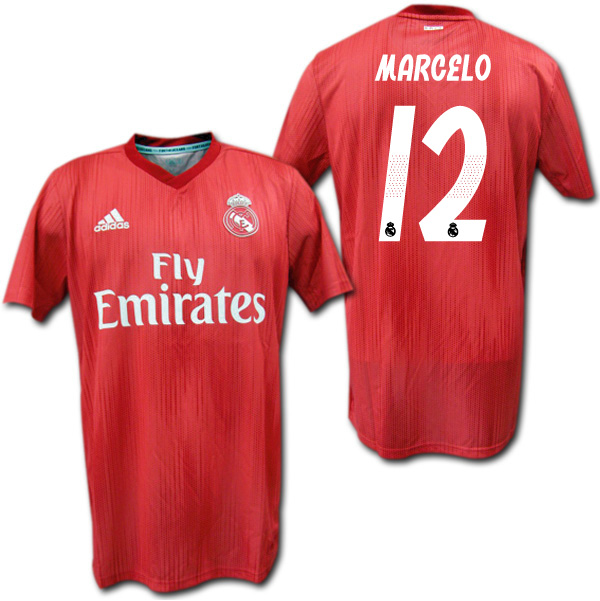 huge selection of 3c549 7a5f7 Real Madrid 18/19 third (red) # 12 MARCELO circle cello adidas