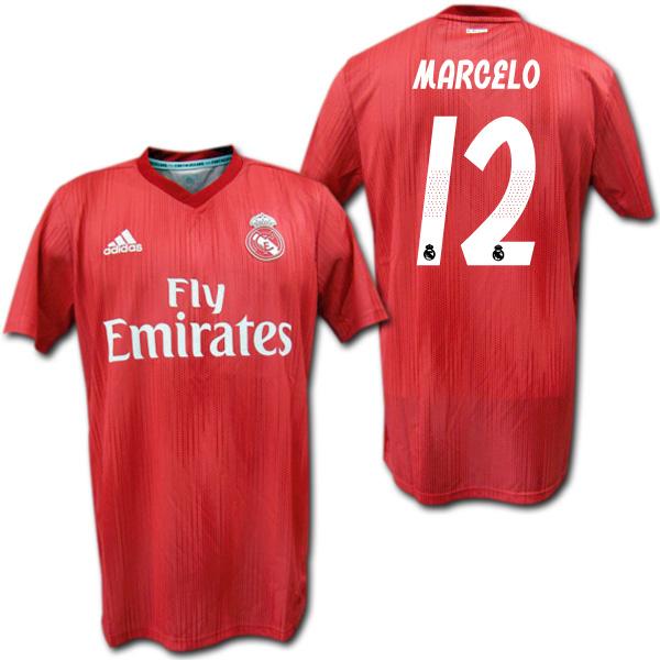 【CL仕様】レアルマドリード 18/19 サード(赤) #12 MARCELO マルセロ adidas【メール便送料無料】