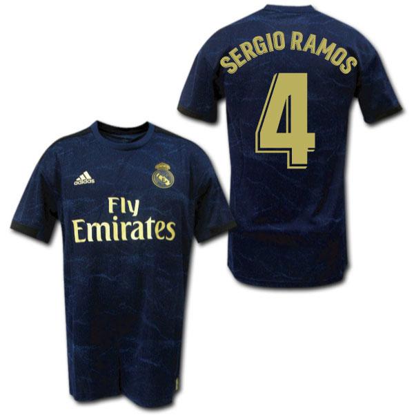 19/20 レアル・マドリード アウェイ(ネイビー) #4 SERGIO RAMOS セルヒオ・ラモス adidas【メール便送料無料】