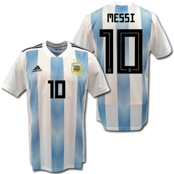 【ロシアW杯モデル!】アルゼンチン代表 2018 ホーム(水色/白) #10 MESSI リオネル・メッシ adidas