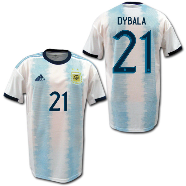 【コパ・アメリカ着用モデル】 2019 アルゼンチン代表 ホーム(水色/白) #21 DYBALA パウロ・ディバラ ADIDAS