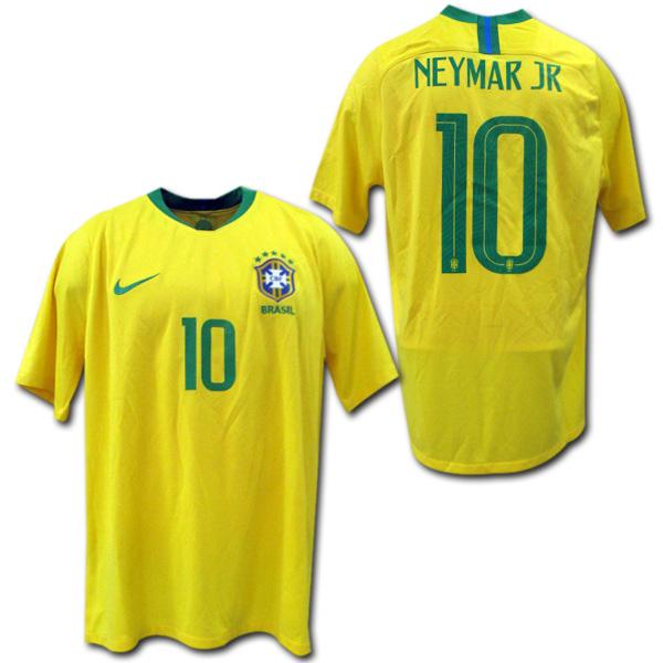 【限定1着】 2018W杯モデル ブラジル代表 ホーム (黄) #10 NEYMAR JR ネイマール NIKE