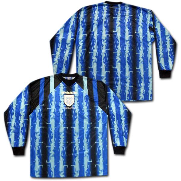 【ネームナンバー無料】 97/98 イングランド代表 GKユニフォーム UMBRO製