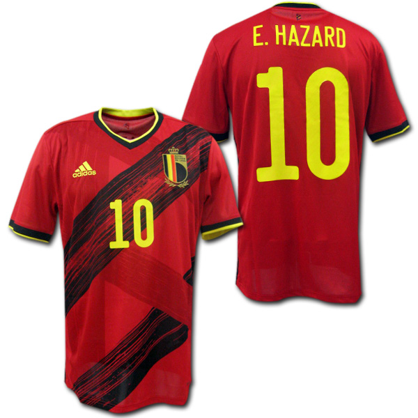【EURO2020モデル】 2020 ベルギー代表 ホーム(赤) #10 E.HAZARD エデン・アザール adidas