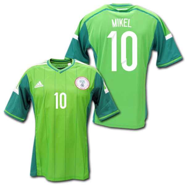 newest 7286d 6ade9 2014 Nigeria National Team Home (green) # 10 MIKEL John Obi Mikel Brazil W  Cup adidas