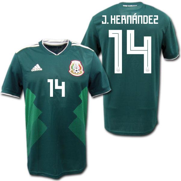9ea2a200d Representative from 2018 Mexico home (green) # 14 J.HERNANDEZ Xavier Hernandez  adidas ...