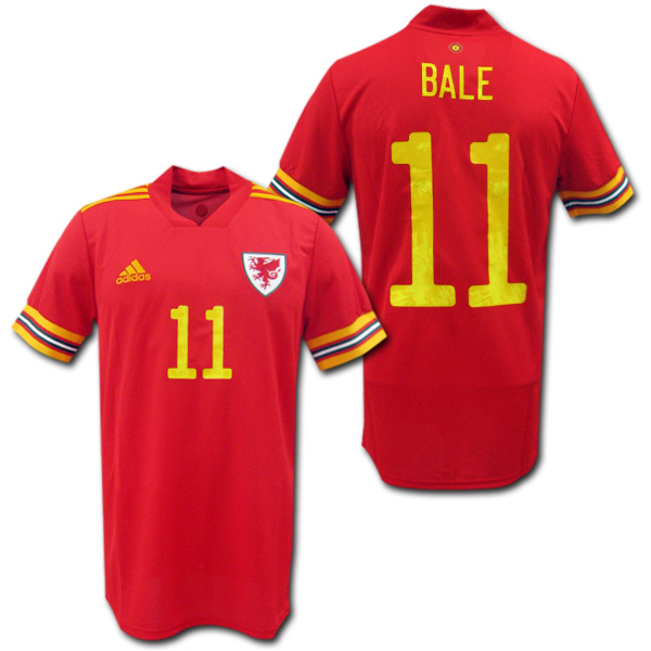 【EURO2020モデル】 2020 ウェールズ代表 ホーム(赤) #11 BALE ギャレス・ベイル adidas