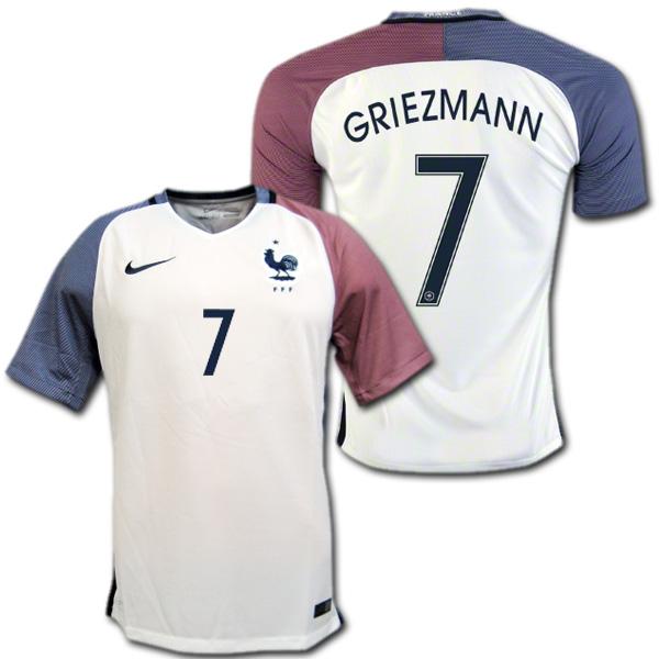 new arrivals c0cbb e6db9 France national team 2016 away (white) # 7, Antoine GRIEZMANN gleasman Nike