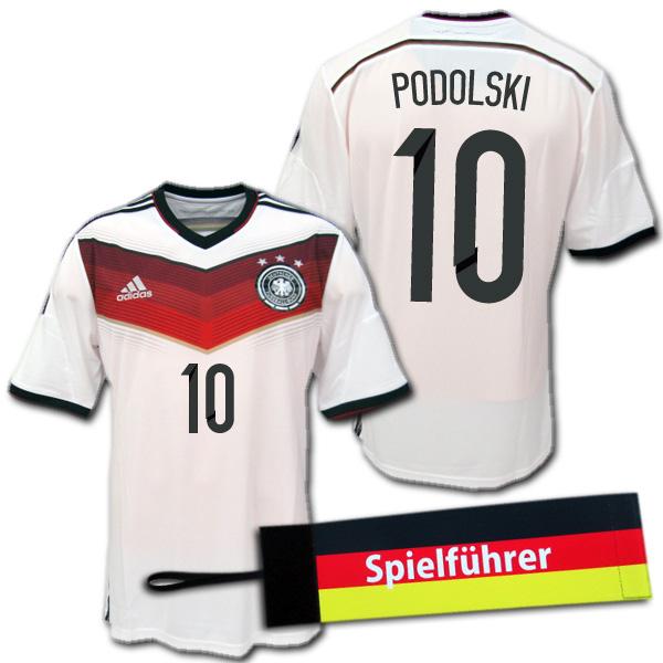 【入手困難・おまけ付】 2014 ドイツ代表 3星! ホーム(白) #10 PODOLSKI ポドルスキ adidas