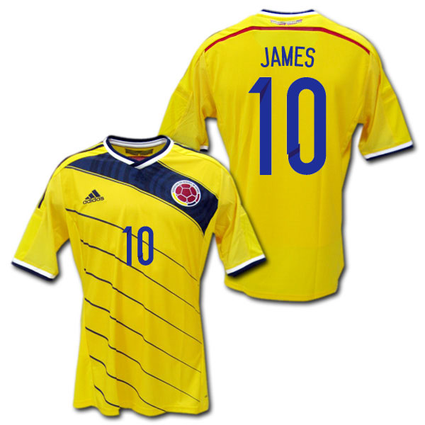 44d15ed18 2014 Colombia national team home (yellow)   10 JAMES James Rodrigues Brazil  W Cup adidas