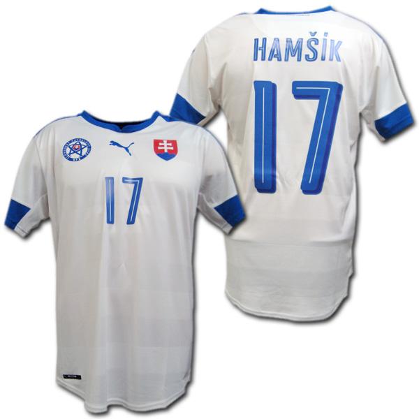 スロバキア代表 2016 ホーム(白) #17 HAMSIK マレク・ハムシーク プーマ製