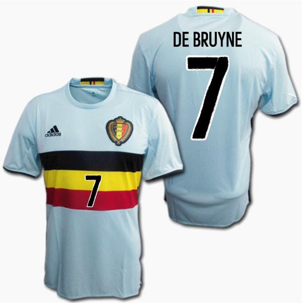 premium selection 1046e 54d8f  Belgian representative 2016 away (light blue) # 7 DE BRUYNE De Bruyne euro  2016 ADIDAS