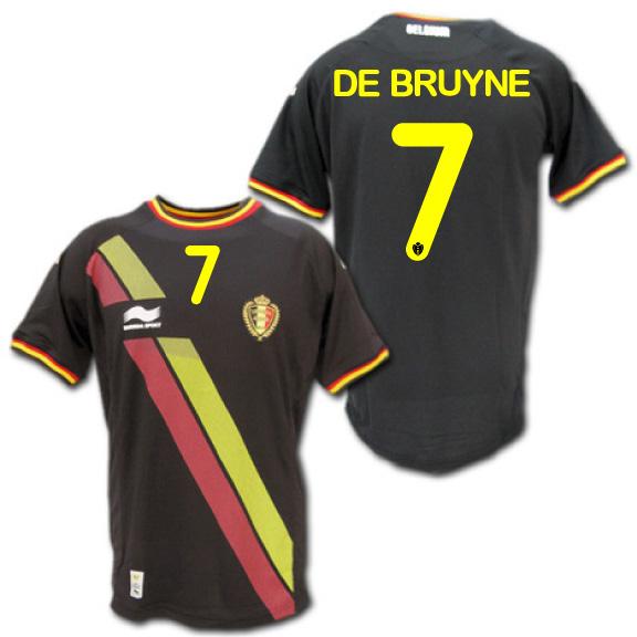 【日本未発売】 2014 ベルギー代表 アウェイ(黒) #7 DE BRUYNE デブライネ BURRDA製【メール便送料無料】