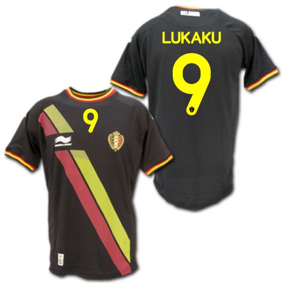 【日本未発売】 2014 ベルギー代表 アウェイ(黒) #9 LUKAKU ロメル・ルカク BURRDA製【メール便送料無料】