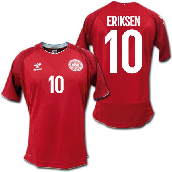 デンマーク代表 2018 ホーム(赤) #10 ERIKSEN エリクセン hummel【メール便送料無料】