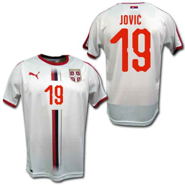 2018 W杯 セルビア代表 アウェイ(白) #19 JOVIC ルカ・ヨヴィッチ PUMA製【メール便送料無料】