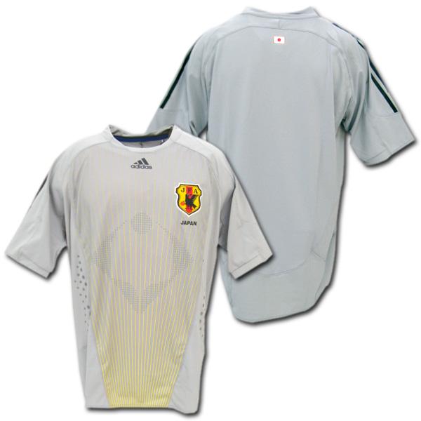 【ネーム&ナンバー無料】 選手支給品 日本代表 2008 GK(グレー) 半袖 adidas製