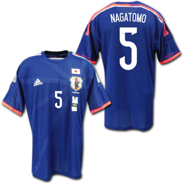 【adizero・オーセンティック】 2014 日本代表 ホーム(青) # 5 NAGATOMO 長友佑都 adidas