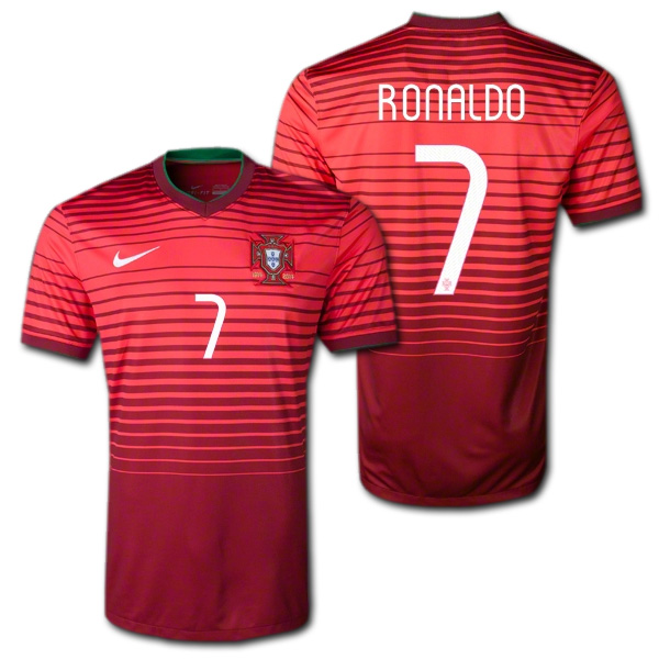 low priced d7427 8a99e O.K.A.Football: 2014 Portugal national team home (red) # 7 ...