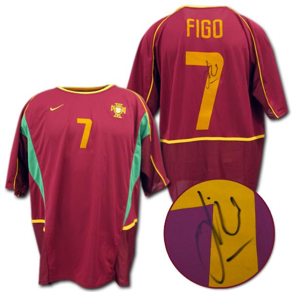 【直筆サイン入】 02 ポルトガル代表 ホーム(ワイン) # 7 FIGO ルイス・フィーゴ ナイキ