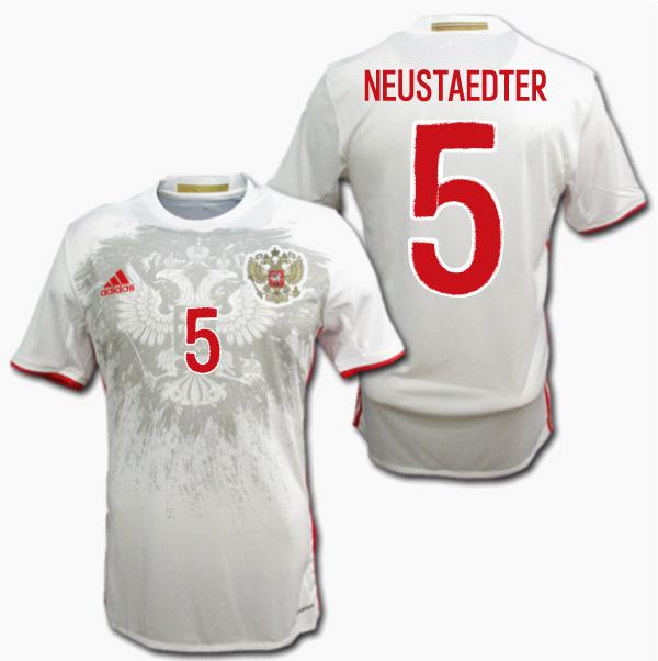 ロシア代表 2016 アウェイ(白) #5 NEUSTAEDTER ノイシュテッター ADIDAS