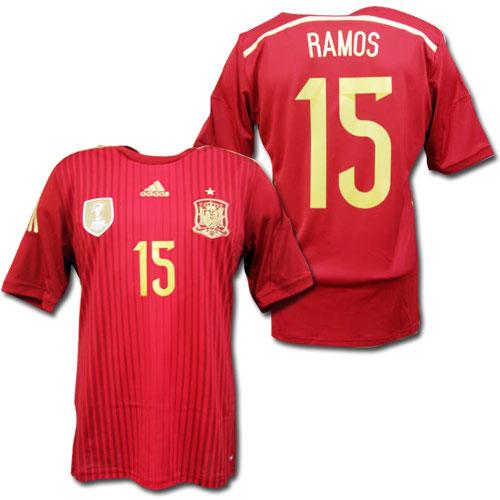 the best attitude 2a05a b9057 2014 RAMOS Spain national team home (red) # 15 Sergio Ramos Brazil W Cup  adidas