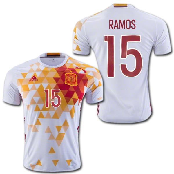 スペイン代表 2016 アウェイ(白) #15 RAMOS セルヒオ・ラモス ユーロ2016 ADIDAS