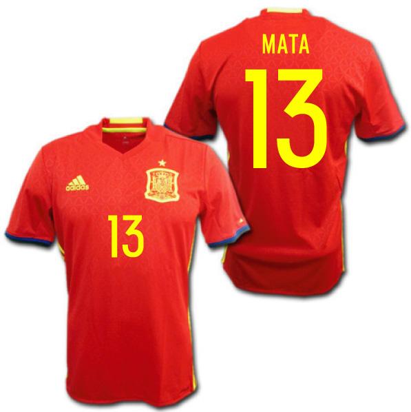 60280374fb7 O.K.A.Football  Spain typical 2016 home (red)   13 MATA Juan Mata ...