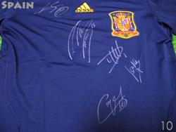 【5選手サイン入り】 2010 スペイン代表 アウェイ(紺) adidas製【送料無料】