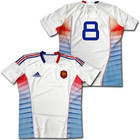 【ナンバー無料】ラグビー7's フランス代表 adizero・選手用オーセンティック ジャージ adidas 【メール便送料無料】