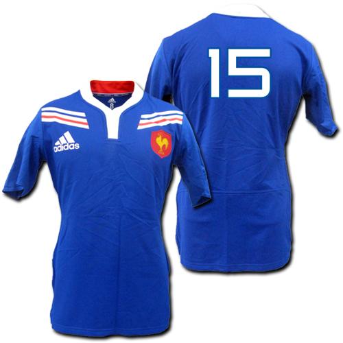 【ナンバー無料】 2012 選手用:ラグビー・フランス代表 Home (青) adidas 【メール便送料無料】