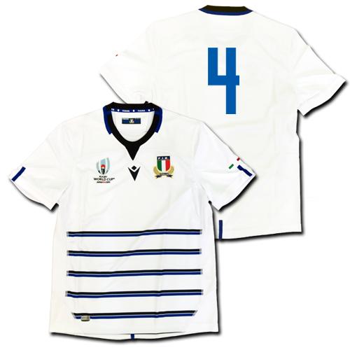 ラグビー・イタリア代表 ワールドカップ2019 アウェイ(白) マクロン 【メール便送料無料】
