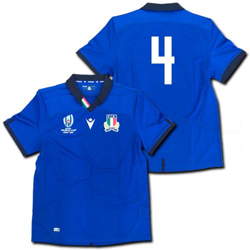 ラグビー・イタリア代表 ワールドカップ2019 ホーム(青) マクロン 【メール便送料無料】